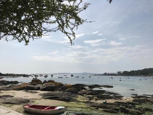 Chalet in Illa de arousa mit 1 Zimmer