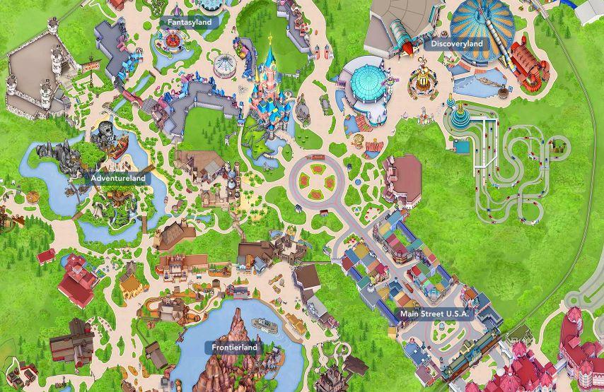 plan du parc disneyland