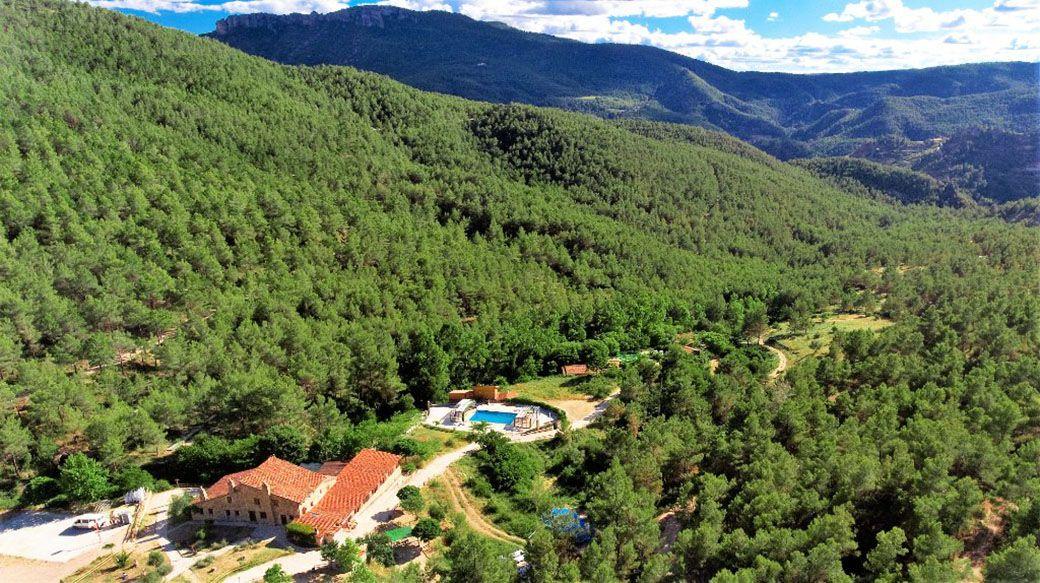 Paisaje natural del Hotel rural Mas de Borràs