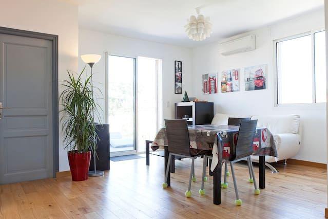 Apartamento hogareño de 2 habitaciones en Montpellier