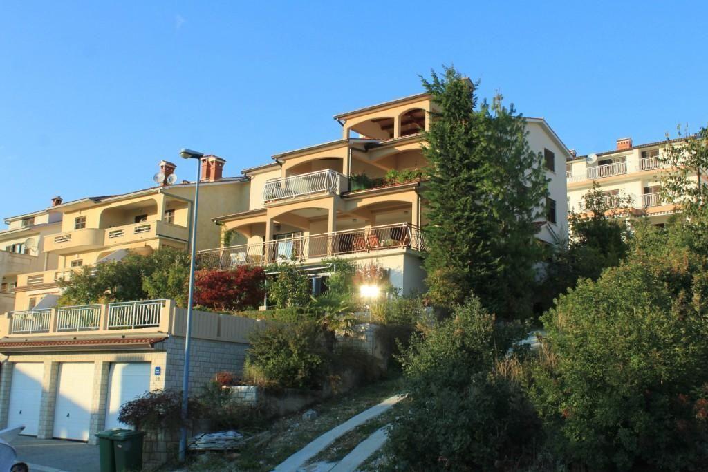 Appartement d'une chambre avec la terrasse et la vue sur le mer Rabac, Labin (A-7442-e)