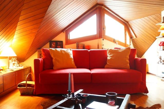 Wonderful attic apartment a few steps from the ski slopes - WI-FI