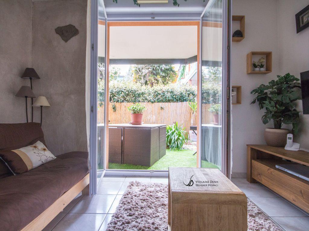 Apartamento con jardín para 3 personas