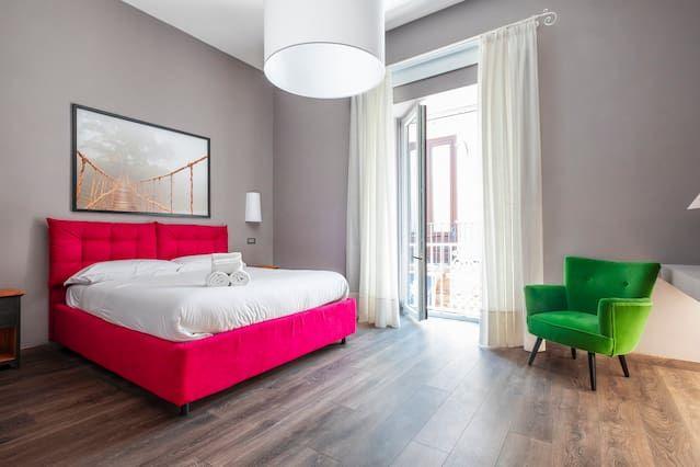Alojamiento en Sorrento con balcón