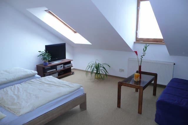attic studio Vrsovice, parking free