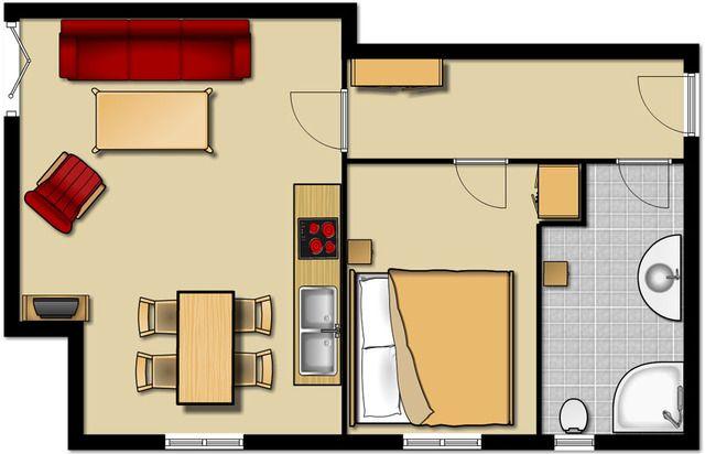 Chalet mit 1 Zimmer in Langeoog
