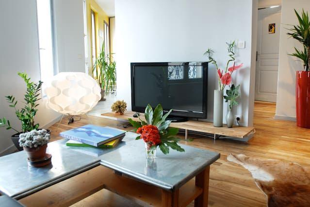 Appartement à 2 chambres avec jardin