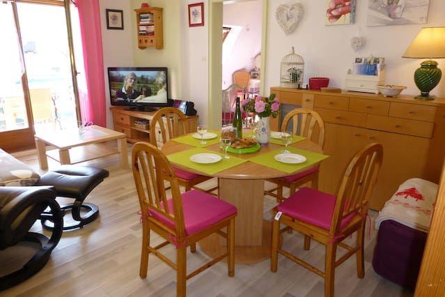 Ribeauvillé, 2/3 habitaciones, balcón, hermosa vista de los viñedos, de 2 a 6 personas, garaje