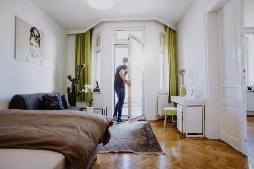 Mit Ausblick Ferienunterkunft mit 1 Zimmer