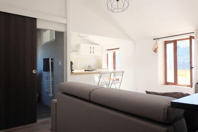 Alojamiento con balcón para 4 personas