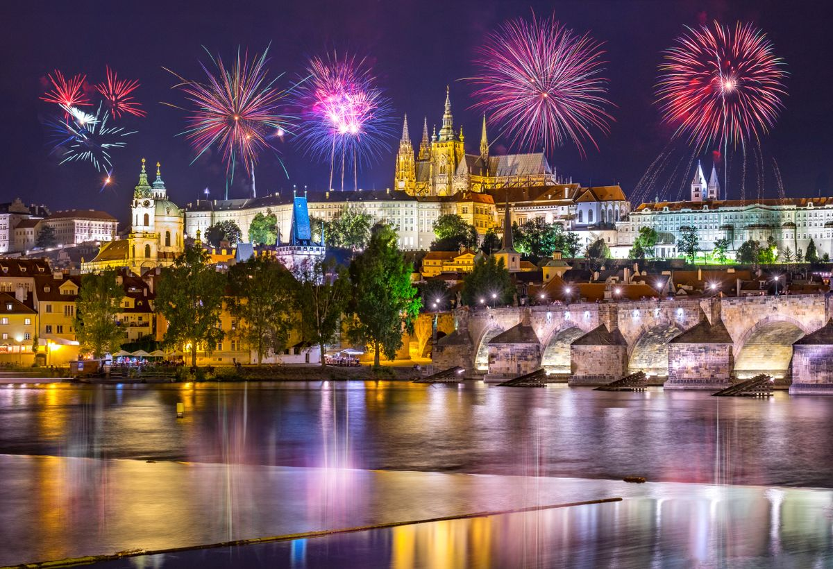 Prague - feu d'artifice