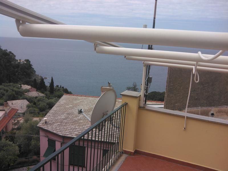 Terrace overlooking the sea near Cinque Terre.