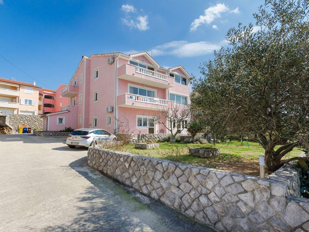Apartamento de 2 habitaciones en Punat - island krk