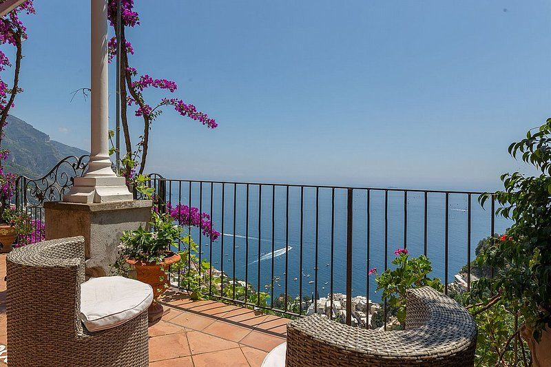 Alojamiento en Positano con balcón