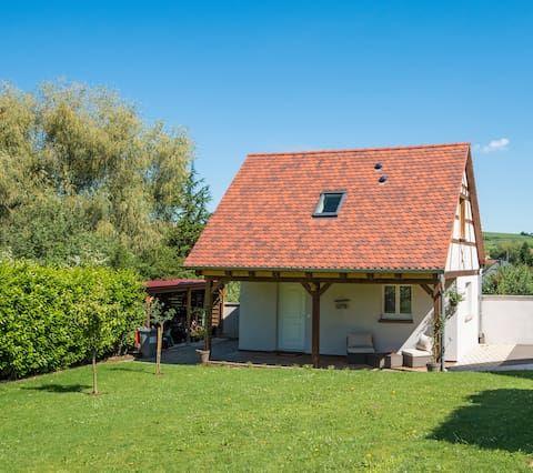 Casa con jardín para 4 personas