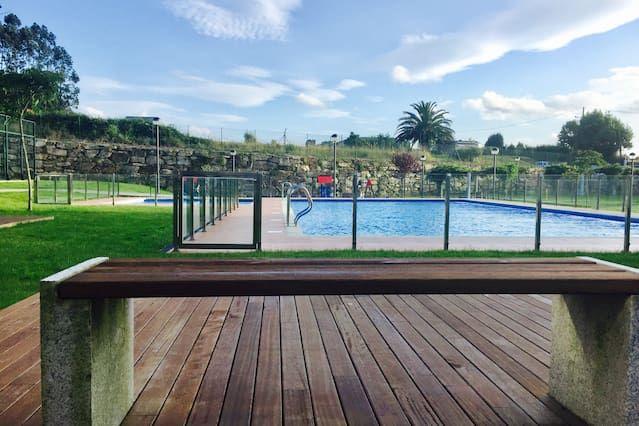 Alojamiento para 7 personas con piscina