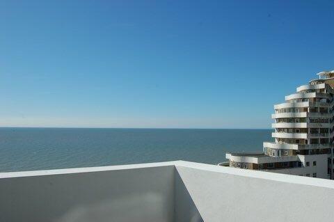Modern penthouse with panoramic sea views